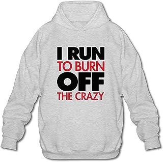 MPIQW Boy I Run to Burn Off The Crazy Hoodie Warm Pullover Sweatshirt