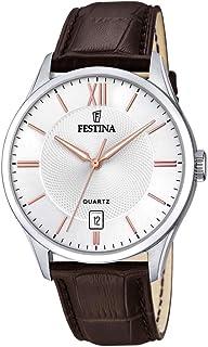 Festina Hommes Analogique Quartz Montre avec Bracelet en Cuir F20426/4