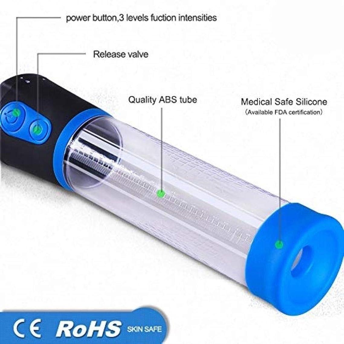 補う湿度バリアRisareyi 自動真空ポンプ、男性用勃起遅延ペニス成長、ペニス拡大器、ペニス成長デバイススリーブ