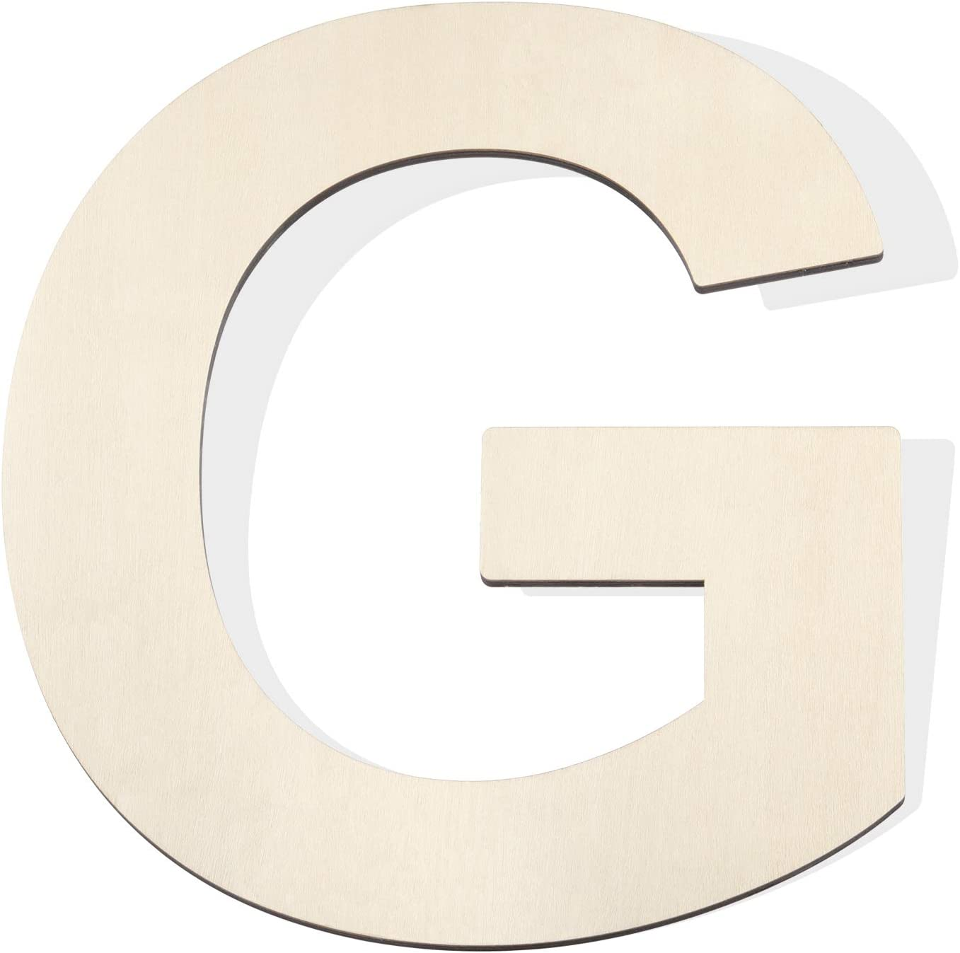 Fuyit Wood Letters G, 12 Inch Tall 1/4 Inch Thick Blank Unfinished Wooden Letter for DIY Crafts, Painting, Wall Arts, Home & Party Decor