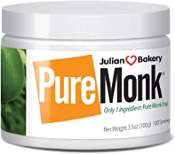 Julian Bakery Pure Monk | v25% Monk Fruit Extract | Sweetener | Sugar Free | 3.5oz | 100 Servings