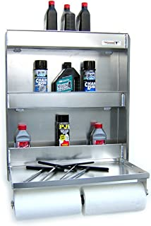 Pit Posse Fold Up Work Station Storage Cabinet-SLV
