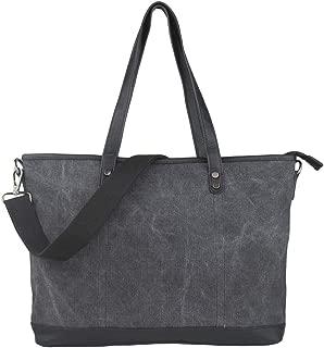 Imiflow Women's Top Handle Shoulder Bags Canvas Leather Cross Body Tote Purse Satchel