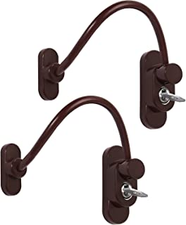 Neoteck 2 PCS Window Door Restrictor Cable, Child Baby Safety Security Wire Lock- Brown