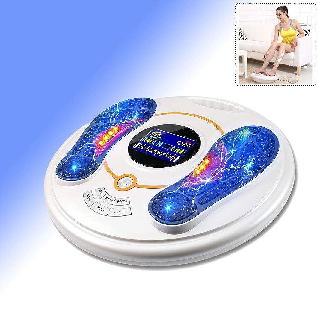帽子文芸聴覚障害者医療用フットマッサージマシン、EMSおよびTENS刺激装置を使用した足循環装置により、硬直した筋肉と足の痛みを緩和