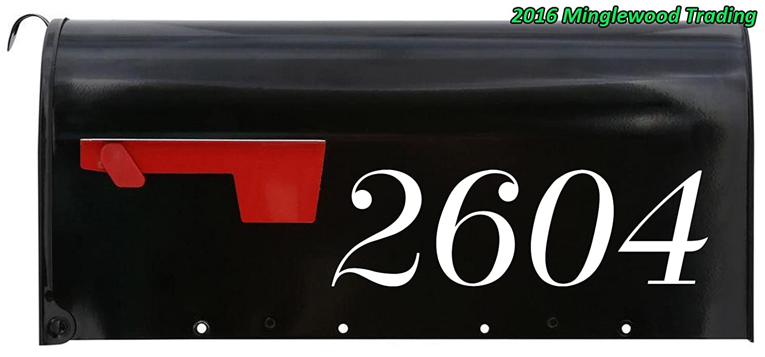 Minglewood Trading Custom House or Mailbox Numbers or Lettering Name Vinyl Decal Sticker 11.5