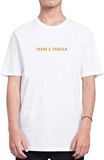 Tacos and Tequila Mexican Script Quote_CFS3657 Tshirt T-Shirt Shirt Men Camiseta para Hombres Men's, Shirts For Mens, Sports, Casual, Shirts For Mens, Sports, Casual