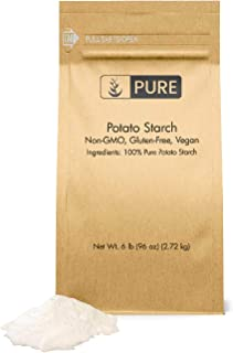 Potato Starch (6 lbs) by Pure Organic Ingredients, Gluten-Free, NON-GMO, All-Natural, Thickener For Sauces, Soup, & Gravy, No Added Preservatives Or Artificial Ingredients