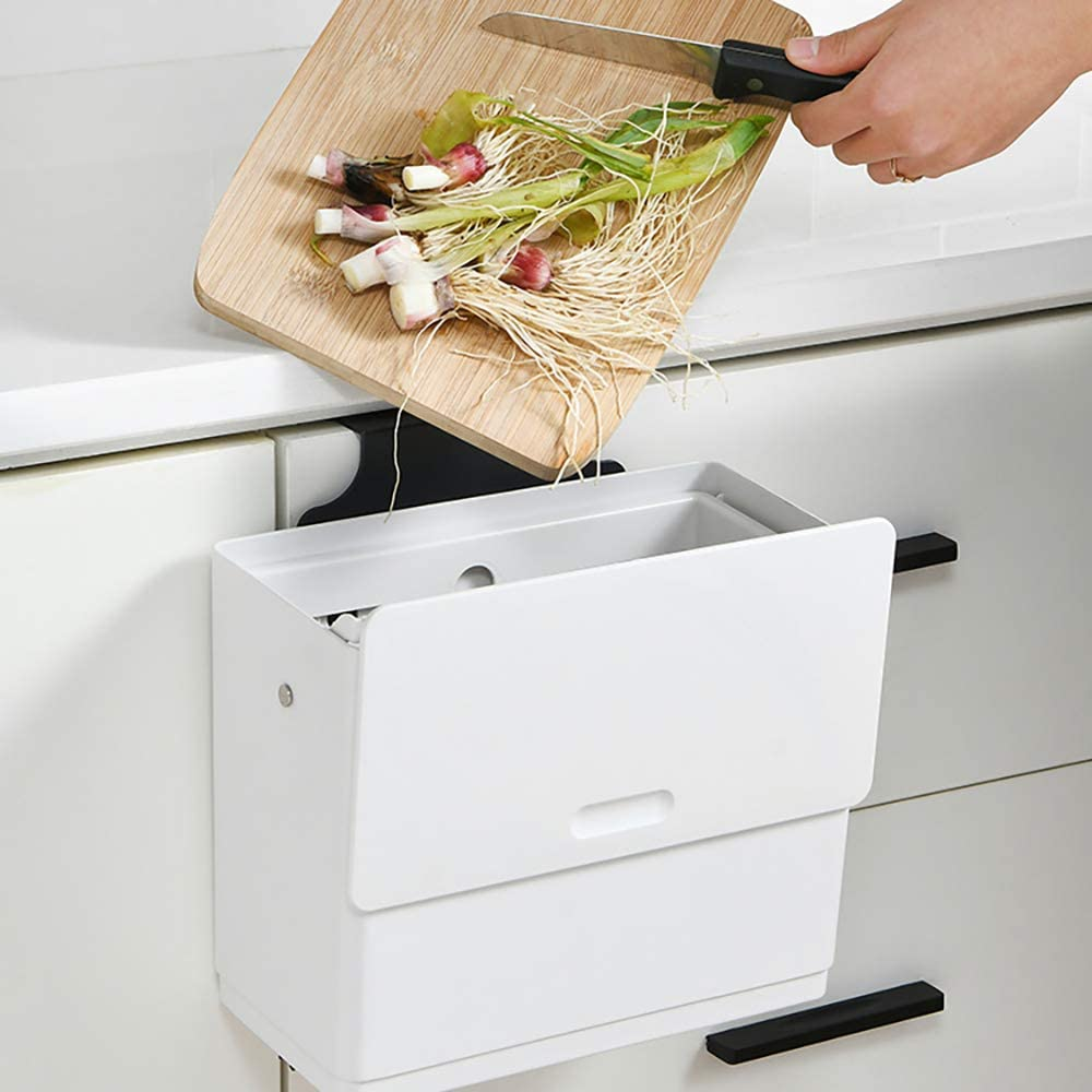 Vvciic Ranking TOP12 Garbage Bin Kitchen Max 59% OFF Hanging C Trash Can Small