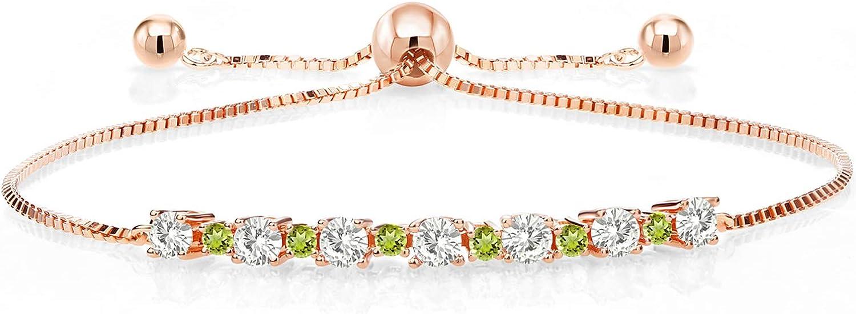 18K Manufacturer direct delivery Rose Gold Plated Silver Adjustable for Women Bracelet Tennis Max 48% OFF