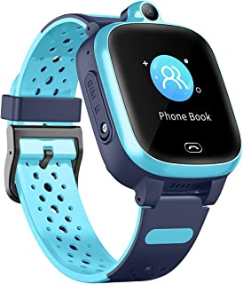 Waterproof GPS Smart Watch, Laxcido 4G Video Phone Call Real-time Tracking Camera SOS Alarm Geo-Fence Touch Screen Monitor...