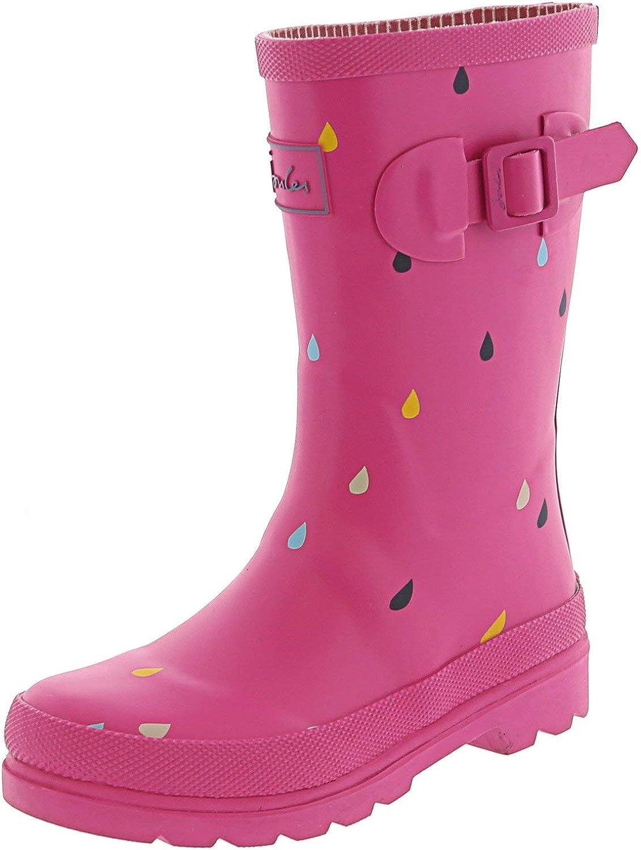 Joules Women's Junior Welly Pink Mid-Calf Rain Boot - 11M