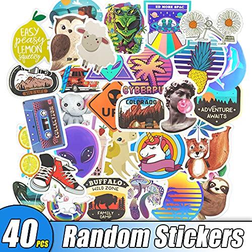 Tartaruga Story 40/80 pezzi di adesivi al neon regalo giocattoli per bambini anime animali simpatici decalcomanie adesivi laptop valigia chitarra giocattolo JXNB (colore : TZR1 casuale 40 pezzi)