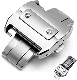 18mm Stainless Deployment Buckle Metal Clasp Watch Band Accessorie Steel Watchband Buckle Butterfly Clasp