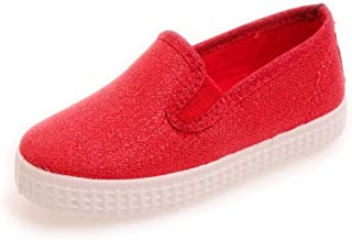 57013 Girls Slip on Canvas Sneaker With Glitter Sparkle (Infant/Toddler/Little Kid/Big Kid)