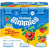 Chobani Gimmies Protein Packed Yogurt Milkshakes 4 ounce, 6-Count (Pack of 4) (Bizzy Buzzy Strawberry)