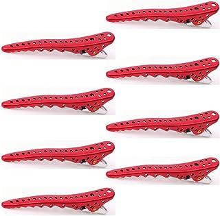 YS Park Shark Clips - Red Metal 8pcs
