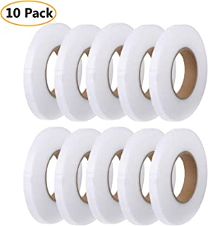 Counting Mars 10 Pieces Hem Tape Fabric Fusing Tape Iron-on Hemming Tape Roll 10MM Wide for Clothes, 90 Yard/Roll