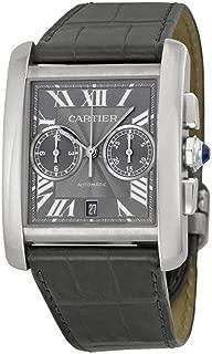 Cartier Tank MC Chronograph Grey Dial Grey Leather Ladies Watch W5330008
