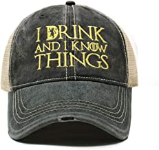 Game of Thrones | I Drink and I Know Things | Dad Hat Cotton Baseball Cap Polo Style Low Profile …