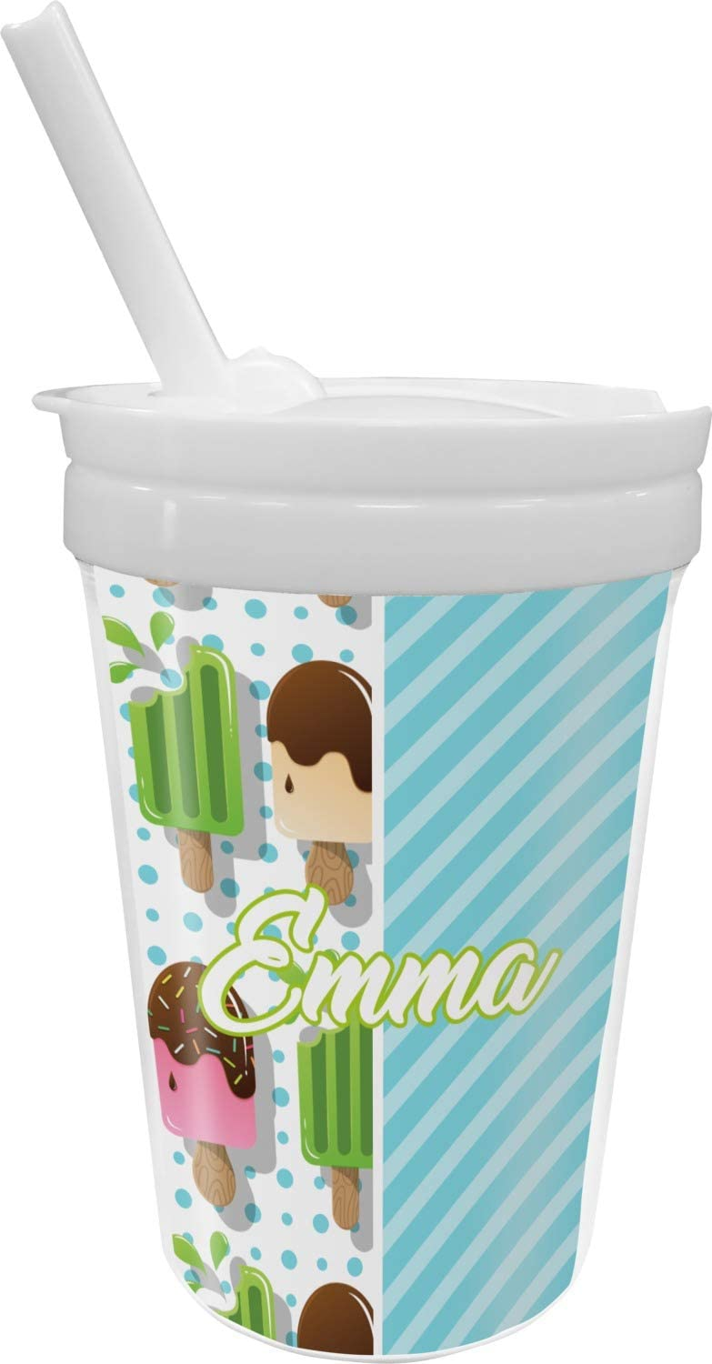 Max 72% OFF Popsicles and Animer price revision Polka Dots Sippy Cup Straw Personalized with
