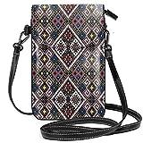 Jiger Women Small Cell Phone Purse Crossbody,Ukrainian Ethnic Ornament National Traditional Needlecraft Motifs Ancient Design