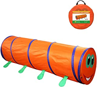 TENCMG Play Crawl Tunnel Toy Cute Insect Children Pop-Up Tunnel - Suitable for All Kinds of Toy Tents/Toy Ball Pits/Castle Tents - Orange 71 x18inch