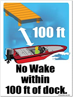Best no wake zone wooden sign Reviews