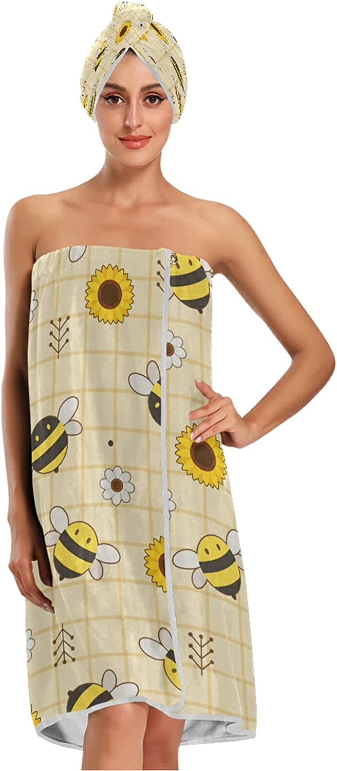 xigua Women's Spa overseas Bath Wrap Closure Adjustable with outlet Lightweight
