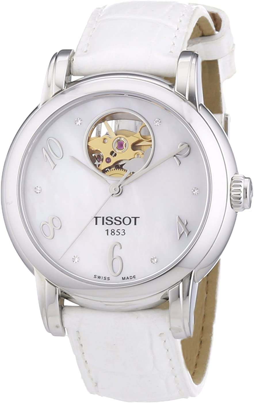 Tissot Women's T0502071611600 Heart Mother-Of-Pearl Ranking TOP12 Op Max 84% OFF Automatic