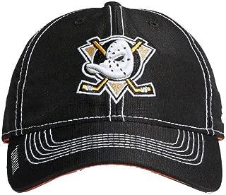 NHL Hockey Anaheim Ducks Cap Hat Slouch Dobby ADJ Climalite CY1159 Black