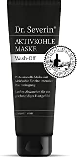 Black Mask: Dr. Severin activated carbon mask wash-off. Refined complexion + deep cleansing. Gentle to the skin. Fast acti...