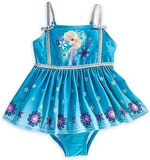 c66ee0165c Disney Store Frozen Elsa Big Girl One Piece Swimsuit Size 7/8