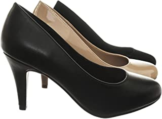 a4ab725a03f7 City Classified Guide Round Toe High Heel Dress Pump Wide Fit