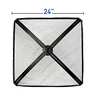 """EasyGoProducts EGP-FIRE-012 EasyGo 24"""" Fire Square Pit Spark Screen Protector Cover, Firepit Lid"""