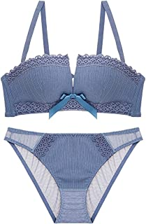 Care Cross Straps Decorated with a Sexy Bra Set, Sponge, no Steel Ring, Adjustable Chest Underwear, Three Rows of Three Bu...
