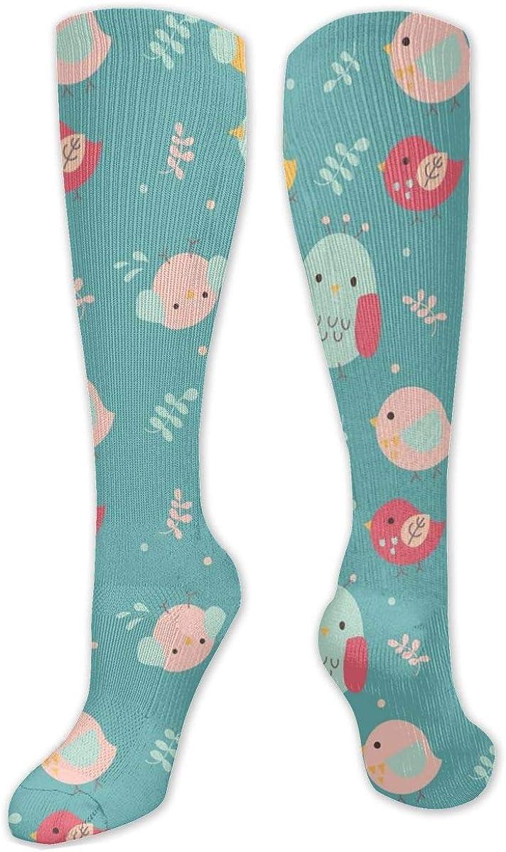 Blue Animal Print Knee High Socks Leg Warmer Dresses Long Boot Stockings For Womens Cosplay Daily Wear