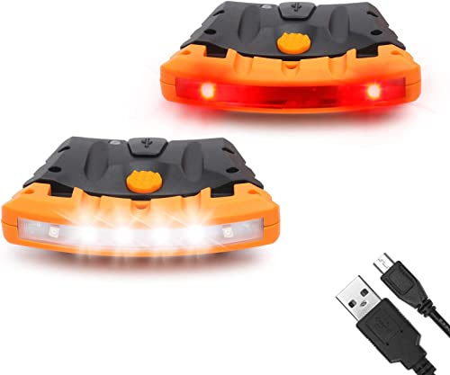 lowest EverBrite 2 Pack Rechargeable Hat Light, Waterproof Clip on Cap Light with Memory Function, Red discount Light, online and Pivoting Head,IPX4 Water Resistant outlet sale