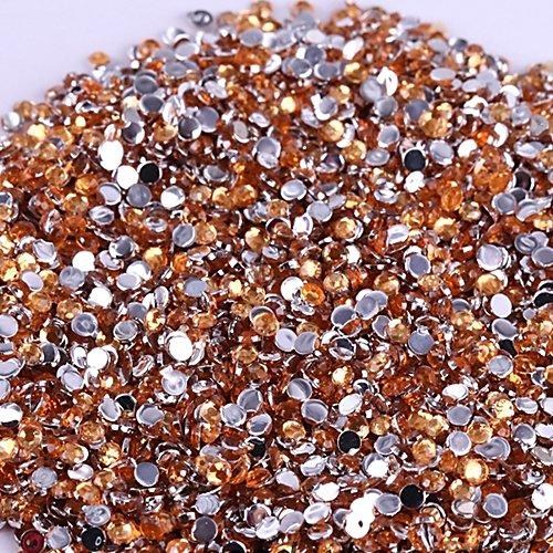 Vente En Gros 500pcs Cristal Rhinestones Flatback Acrylique Perles Nail Art Champagne