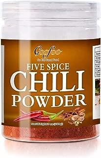 Goofoo Chinese Five Spice Powder Seasoning,Culinary Hot Spice Chili Powder Pepper Flakes 7 oz