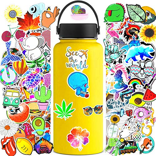 VSCO Girl Stickers for Hydroflask 50Pcs,Cute Funny Aesthetic Vsco Grils Stuff Decals for Woter Botter and Laptop,Skateboard Travel Extra Durable[Not Random]