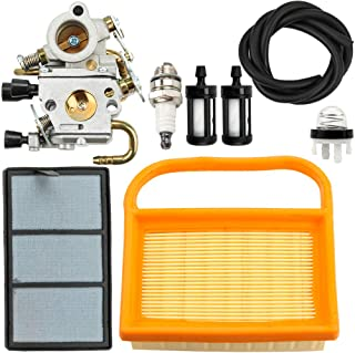 Dxent C1Q-S118 Carburetor for Stihl TS410 TS420 TS410Z TS420Z Concrete Cut-Off Saw with Air Fuel Filter Primer Bulb Tune-up Kit Replaces 4238 120 0600 Carb Engine Chainsaw