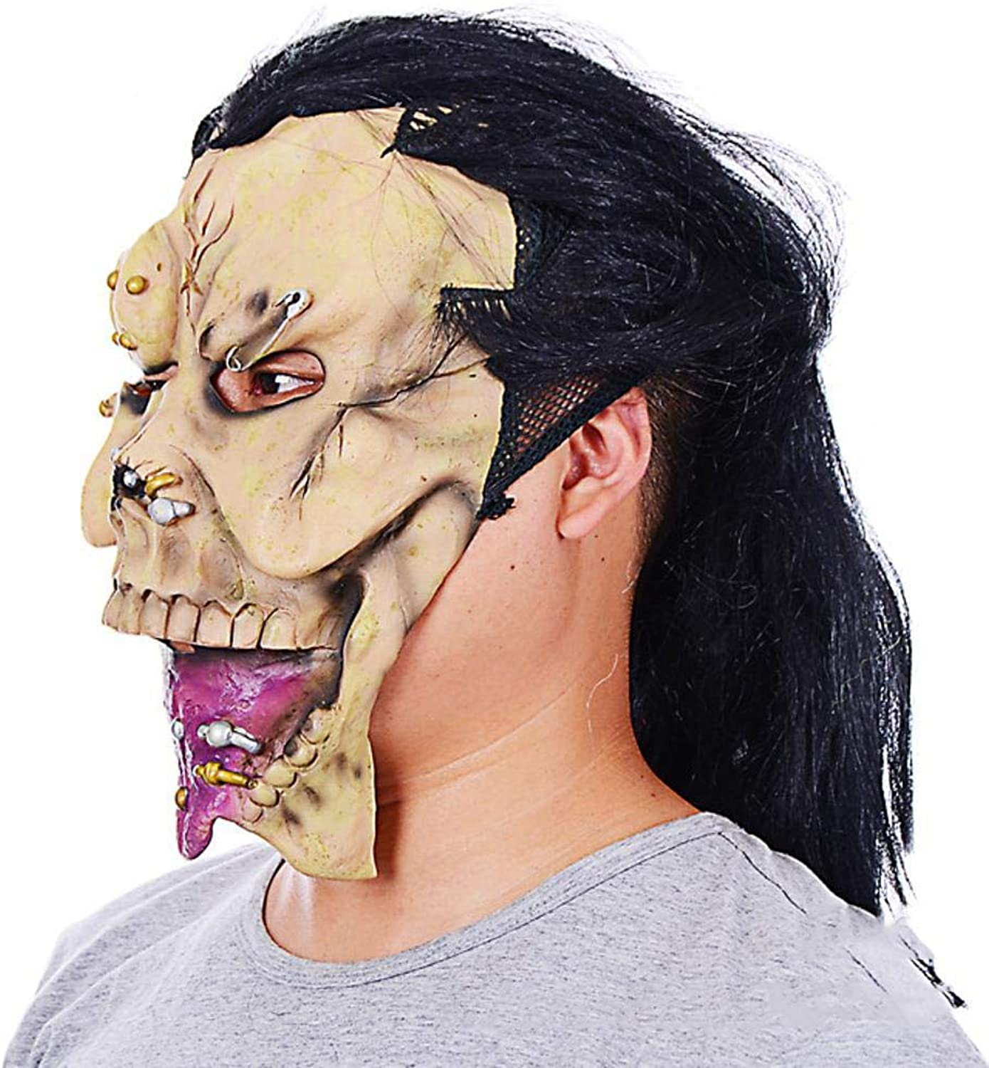 Rwdacfs Halloween mask,Horror Monster Scary mask Halloween Eco Latex Party mask Hood B07Q27X5G5 Fuxin    | Große Klassifizierung