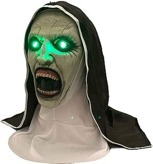 XXF Scary Nun Mask Horror Halloween Nun Mask Creepy Devil Nun Halloween Party Props.