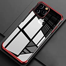 Phone Case for iPhone 11 Pro Max 2019 11 Pro X XR XS Max Fashion Soft Plating Protective Cases for iPhone X 6S 7 8 Plus 11 Pro,Red,for iPhone Xs MAX