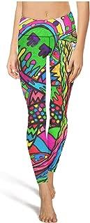 Hamily Broderei Women's Yoga Leggings Skull Diamond Guns Exercise Workout Pants Gym Tights