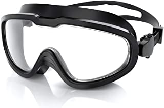Greatever Swim Goggles Solid PC Frame Anti-Leak&Anti-Fog...