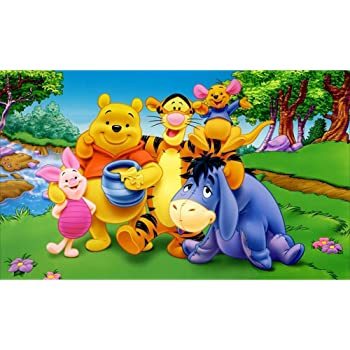 5D Diamond Painting Kit Complete Diamond Embroidery Painting DIY Embroidery Cross-Stitch for Home Wall Decoration Winnie The Pooh 12X16 inches
