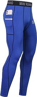 Homme sublimées Compression Thermique Pantalon Running Gym Extensible Collants Pantalon