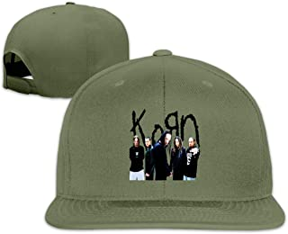 Korn Flat Bill Snapback Adjustable Sports Cap White